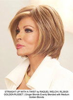 STRAIGHT UP WITH A TWIST by RAQUEL WELCH | RL29/25 GOLDEN RUSSET | Ginger Blonde Evenly Blended with Medium Golden Blonde