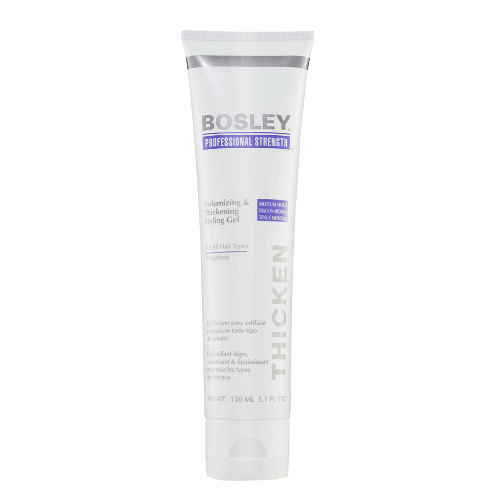Bosley Professional Volumizing & Thickening Styling Gel, 5.1 oz