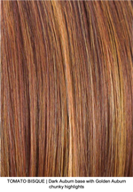 TOMATO BISQUE | Dark Auburn base with Golden Auburn chunky highlights
