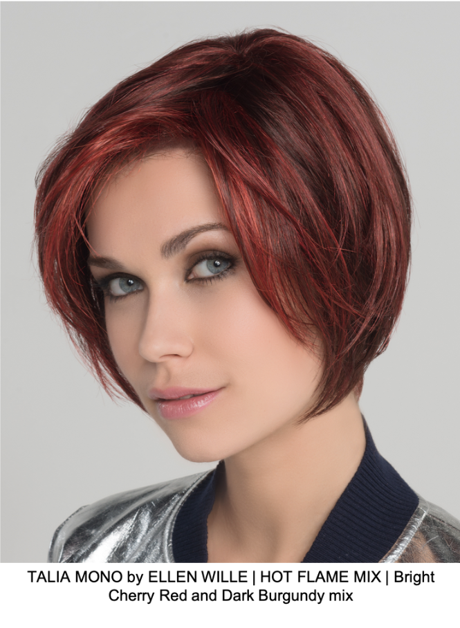 TALIA MONO by ELLEN WILLE | HOT FLAME MIX | Bright Cherry Red and Dark Burgundy mix