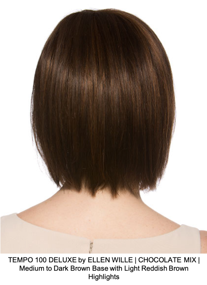 TEMPO 100 DELUXE by ELLEN WILLE | CHOCOLATE MIX | Medium to Dark Brown Base with Light Reddish Brown Highlights