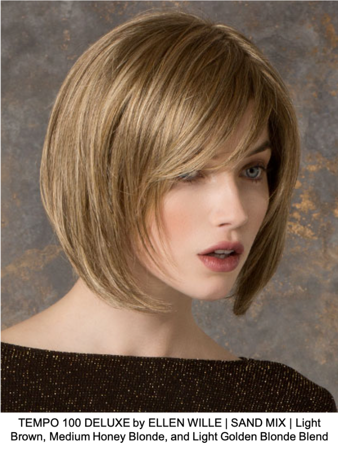 TEMPO 100 DELUXE by ELLEN WILLE | SAND MIX | Light Brown, Medium Honey Blonde, and Light Golden Blonde Blend