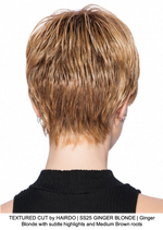 TEXTURED CUT by HAIRDO | SS25 GINGER BLONDE | Ginger Blonde with subtle highlights and Medium Brown roots