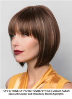 TORI by RENE OF PARIS | RAZBERRY ICE | Medium Auburn base with Copper and Strawberry Blonde highlights