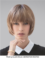 True Human Hair/Synthetic Blend Clip In Bangs (Mono Base) | DISCONTINUED