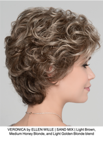 VERONICA by ELLEN WILLE | SAND MIX | Light Brown, Medium Honey Blonde, and Light Golden Blonde blend