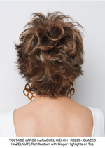 VOLTAGE LARGE by RAQUEL WELCH | R829S+ GLAZED HAZELNUT | Rich Medium with Ginger Highlights on Top