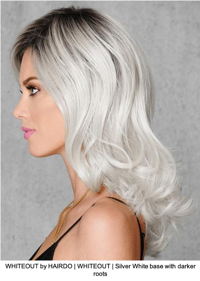 WHITEOUT by HAIRDO | WHITEOUT | Silver White base with darker roots
