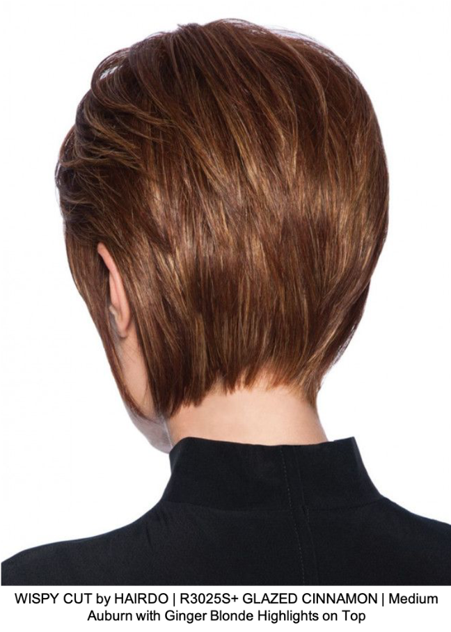 WISPY CUT by HAIRDO | R3025S+ GLAZED CINNAMON | Medium Auburn with Ginger Blonde Highlights on Top