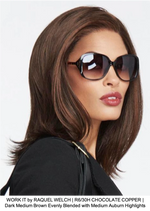 WORK IT by RAQUEL WELCH | R6/30H CHOCOLATE COPPER | Dark Medium Brown Evenly Blended with Medium Auburn Highlights