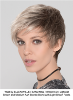 YOU by ELLEN WILLE | SAND MULTI ROOTED | Lightest Brown and Medium Ash Blonde Blend with Light Brown Roots