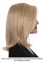 ZOEY by ENVY | LIGHT BLONDE | 2 toned blend of Creamy Blonde with Champagne highlights