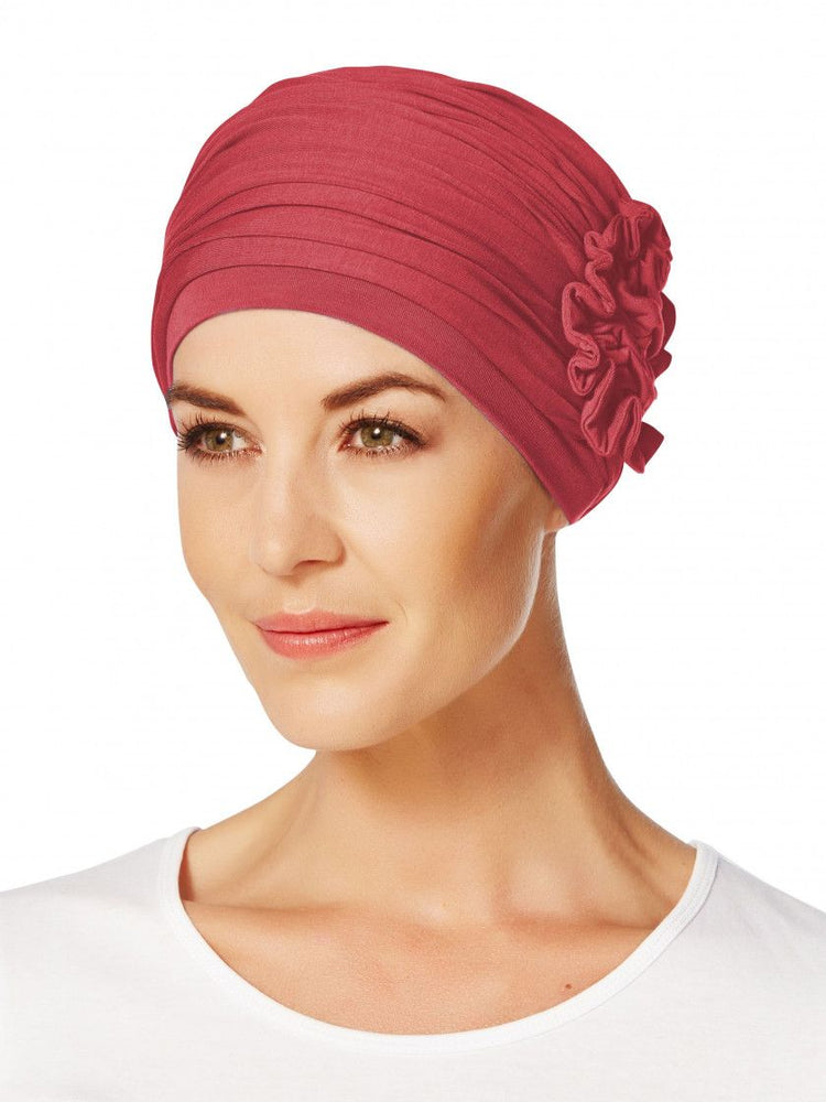 Lotus Turban by Christine Headwear, 0361 Red