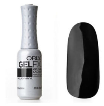 ORLY GelFX Nail Color .3oz fl / Liquid Vinyl Black Crème