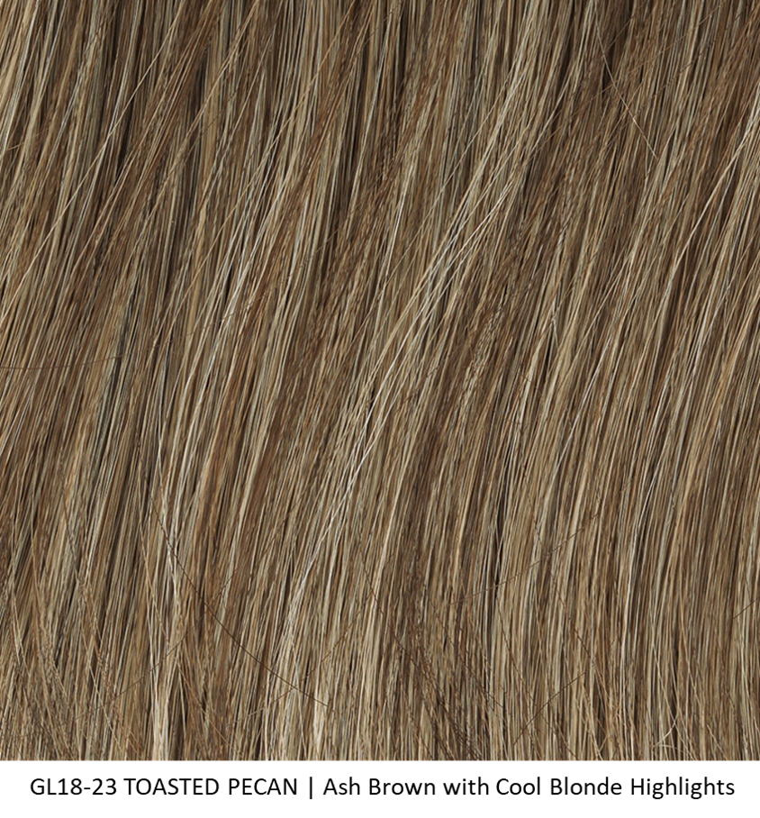 GL18-23 TOASTED PECAN | Ash Brown with Cool Blonde Highlights