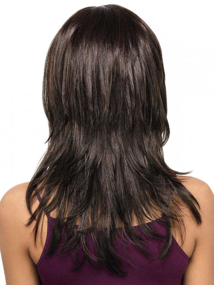 Luscious Layers Lace Front Synthetic Wig (Basic Cap) 4 Medium Dark Brown