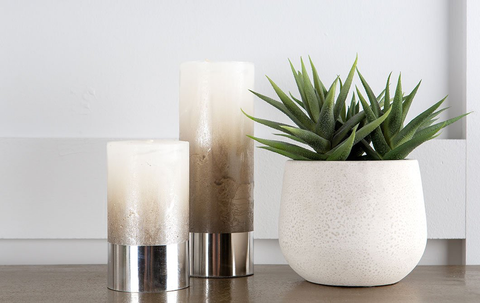 Blog dress your dining table candle and plant