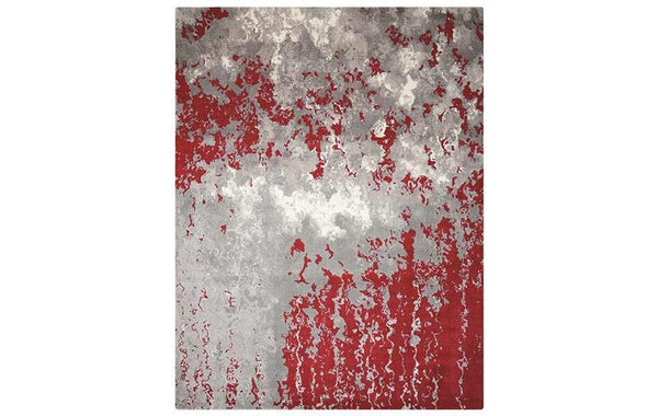 TWILIGHT GREY RED RUG