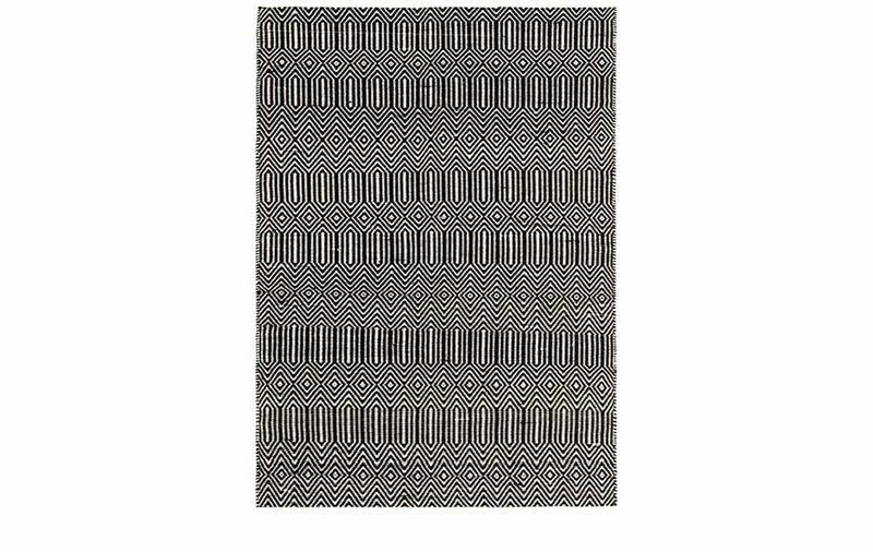 SLOAN BLACK WHITE RUG
