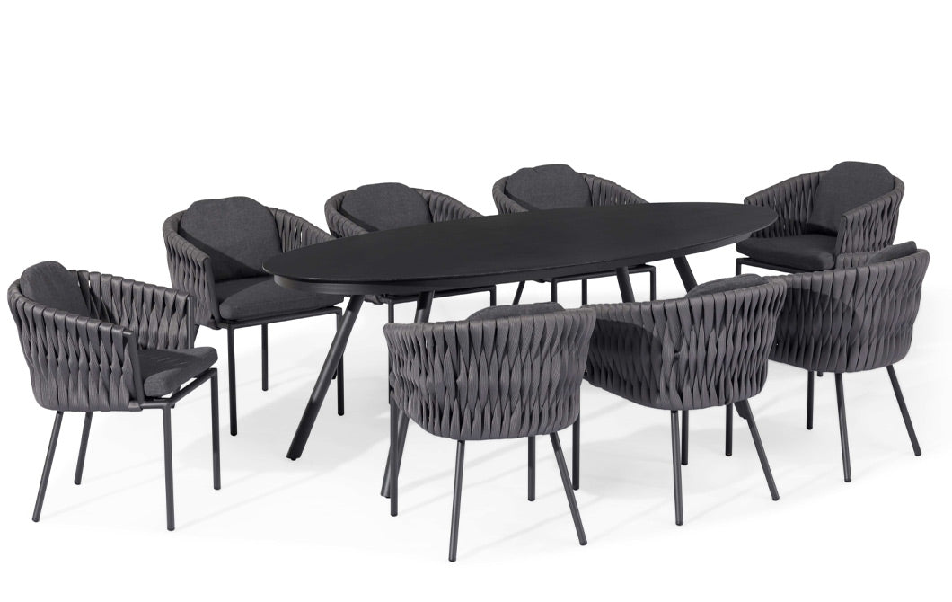 Arcadia 8 Seat Oval Dining Set