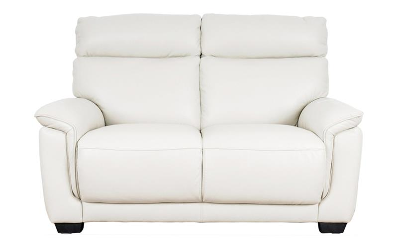 Front image of Alfonso White Leather luxury 2 Seater Sofa