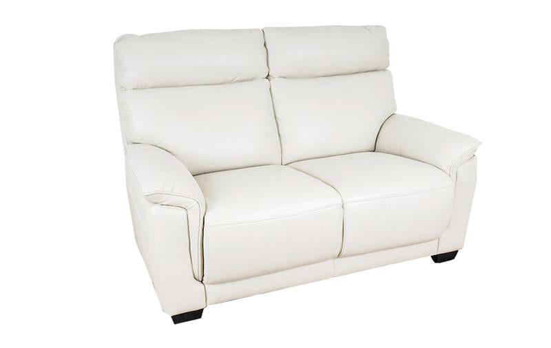 angled image of Alfonso White Leather luxury 2 Seater Sofa
