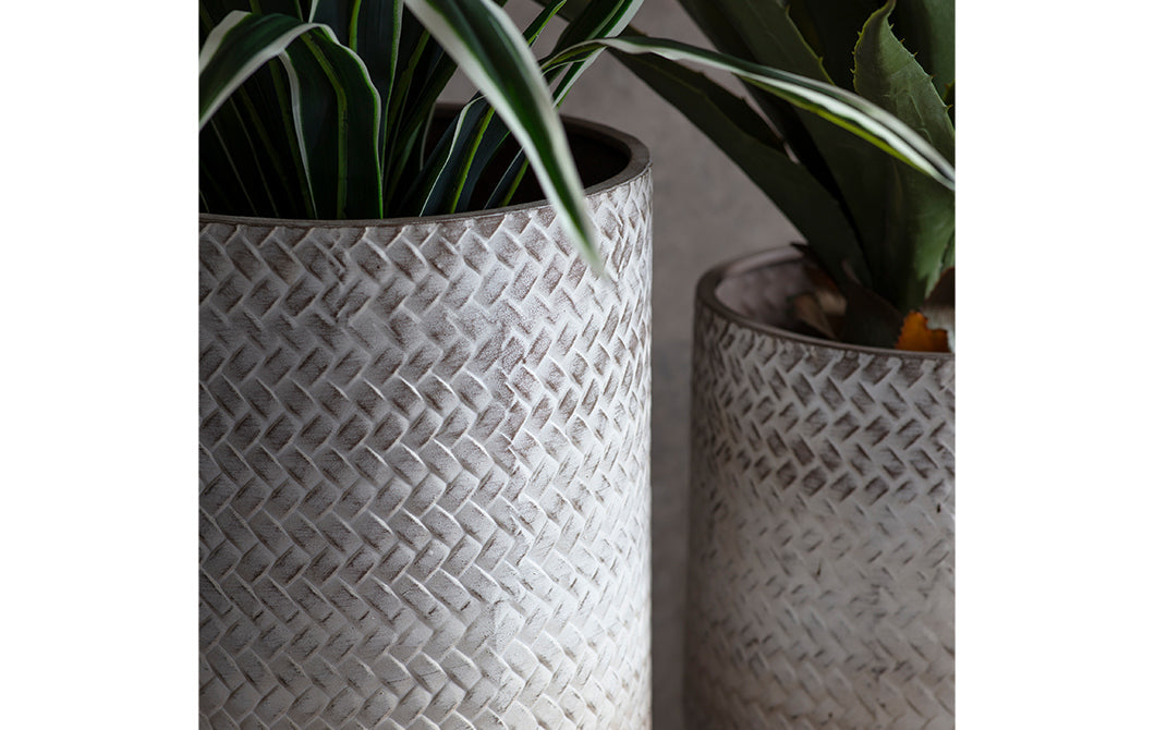 Small Textured Metal Planter