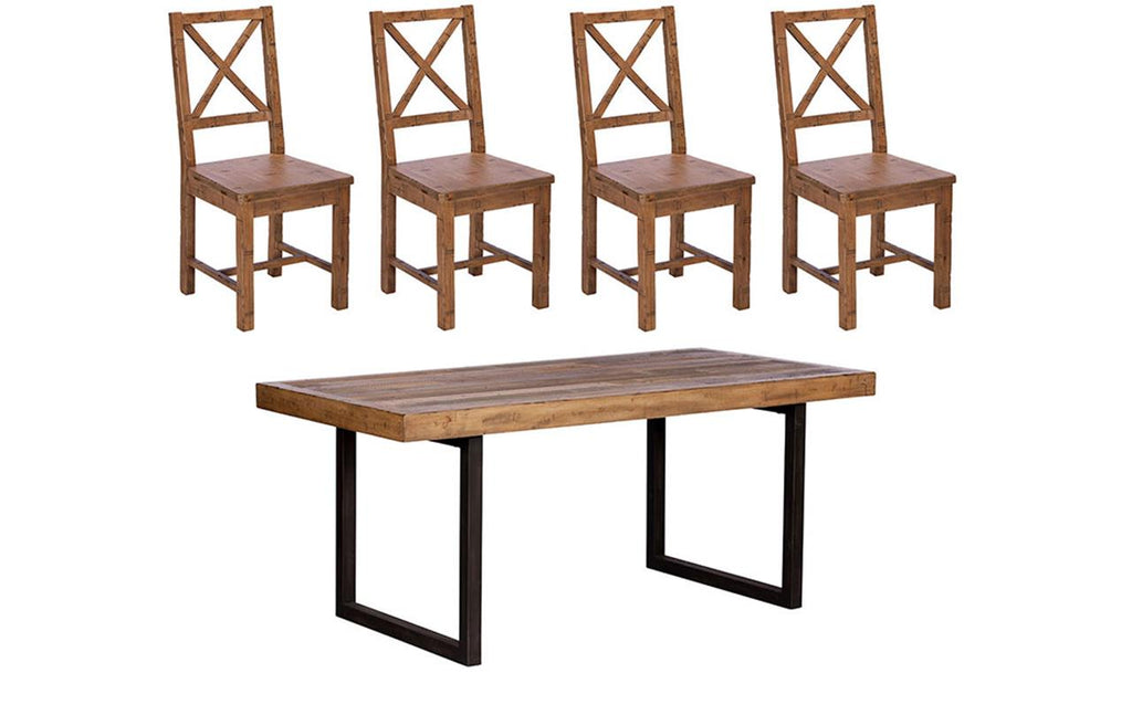 Blake Fixed Top Dining Table + 4 Chairs