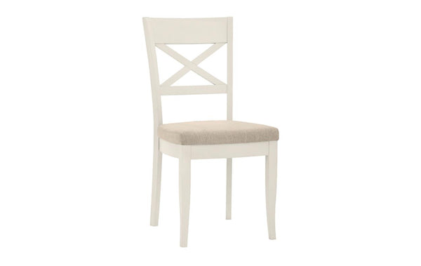 Dieppe Pale Oak Upholstered X Back Chair
