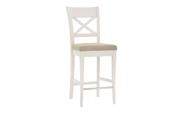 Dieppe Pale Oak Upholstered X Back Barstool