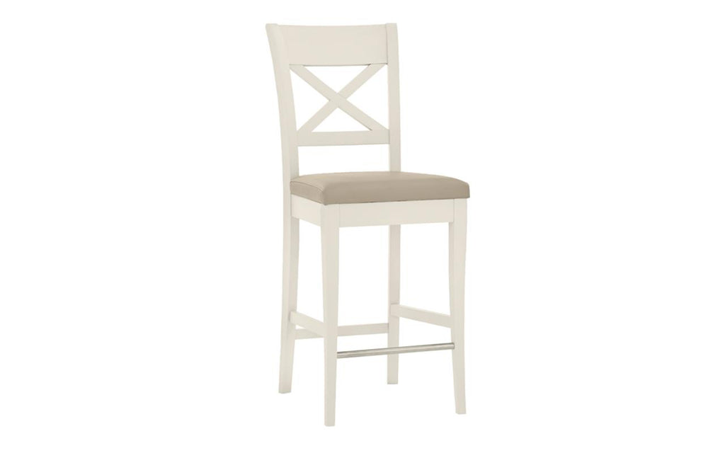 Dieppe Pale Oak Leather X Back Barstool