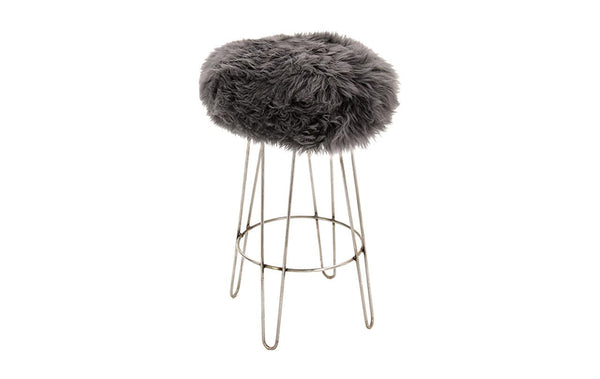 Gina Antique Iron BAA Stool