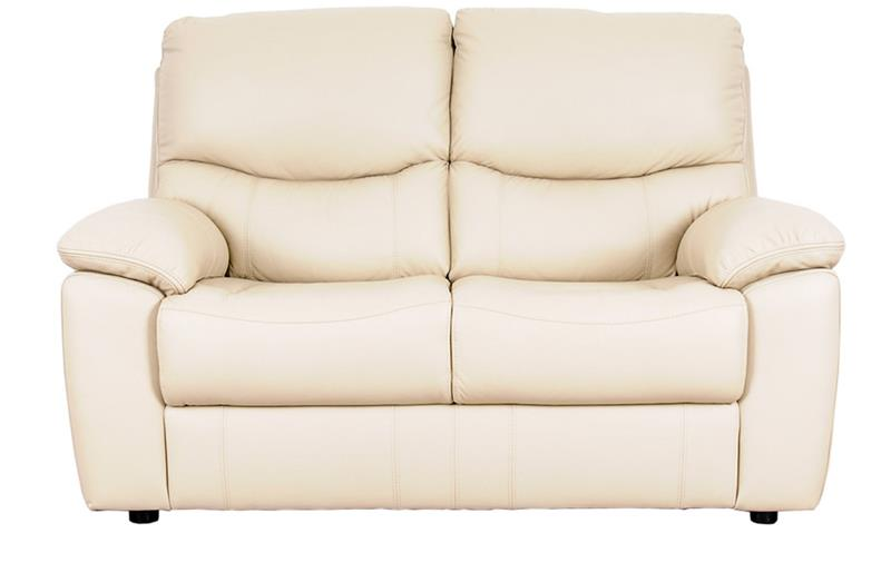 front image of the Guiliano Static 2 Seater Sofa in cream