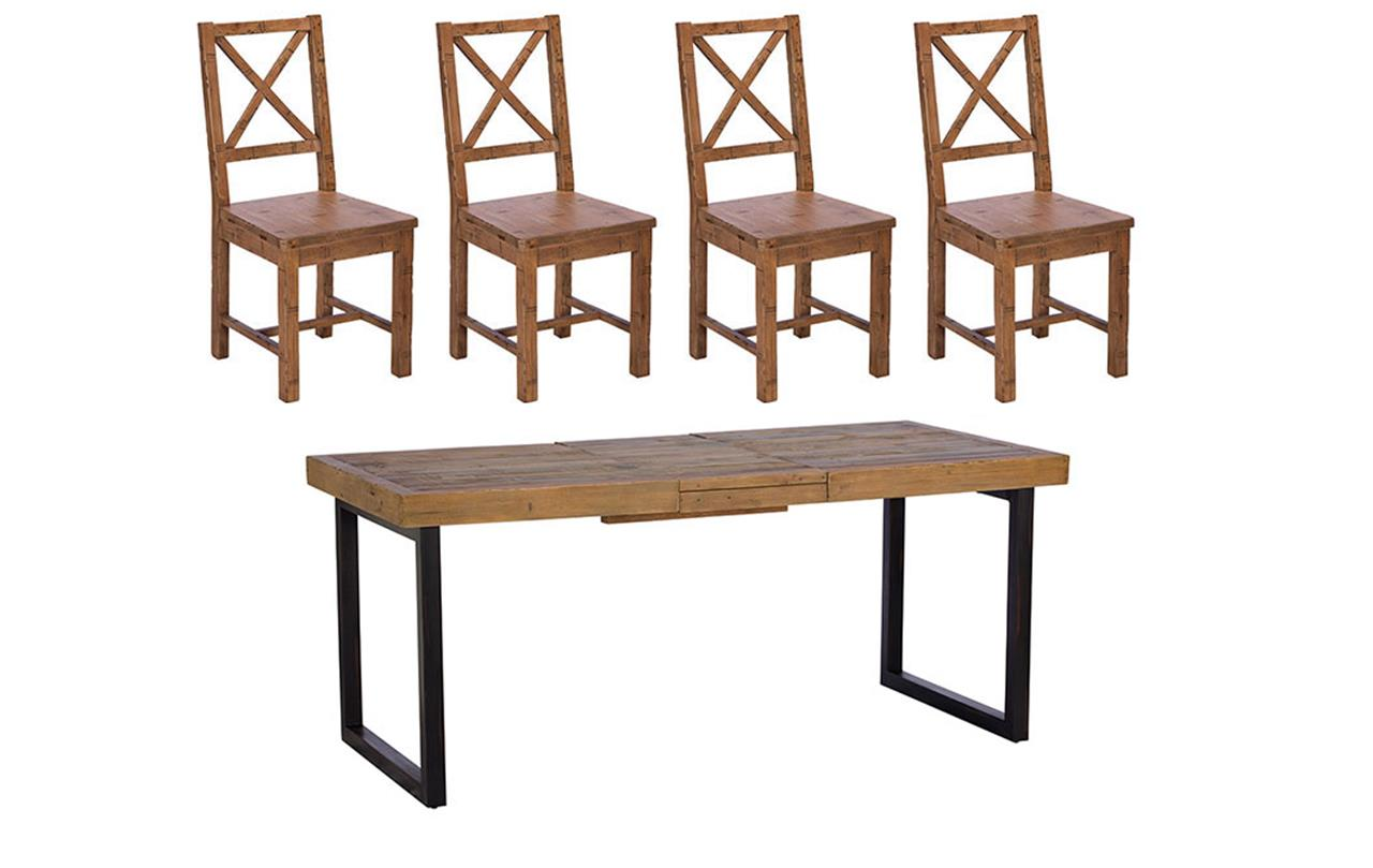 Blake Extending Dining Table + 4 Chairs