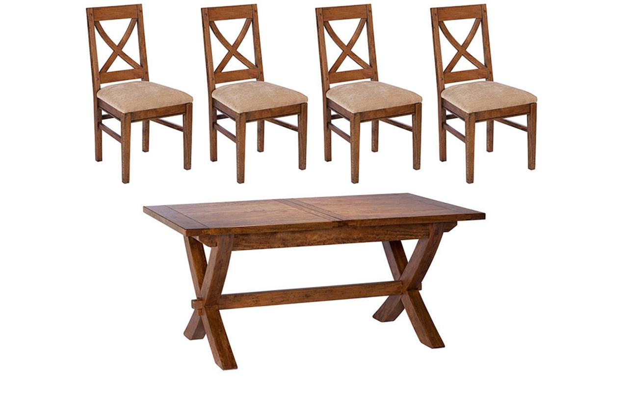 Manilla Dining Table + 4 Chairs