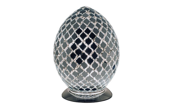 Small Mosaic Egg Lamp Mirrored Tile