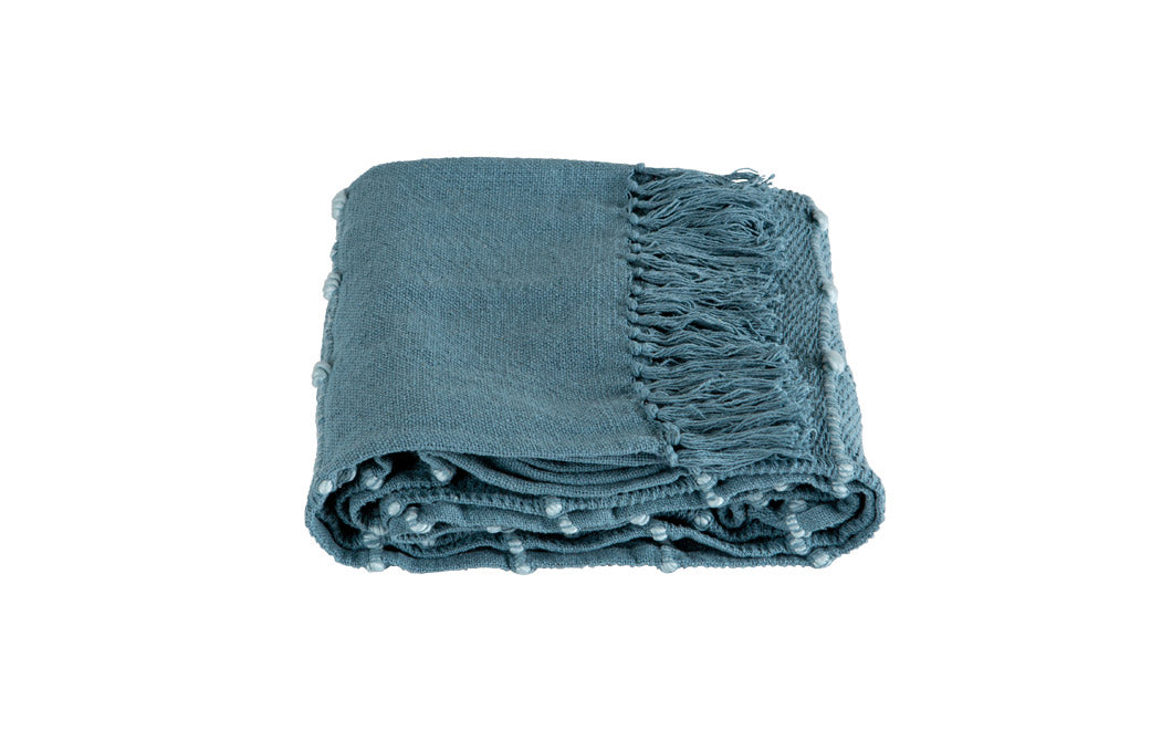 Motti 140 x 180cm Blue Throw