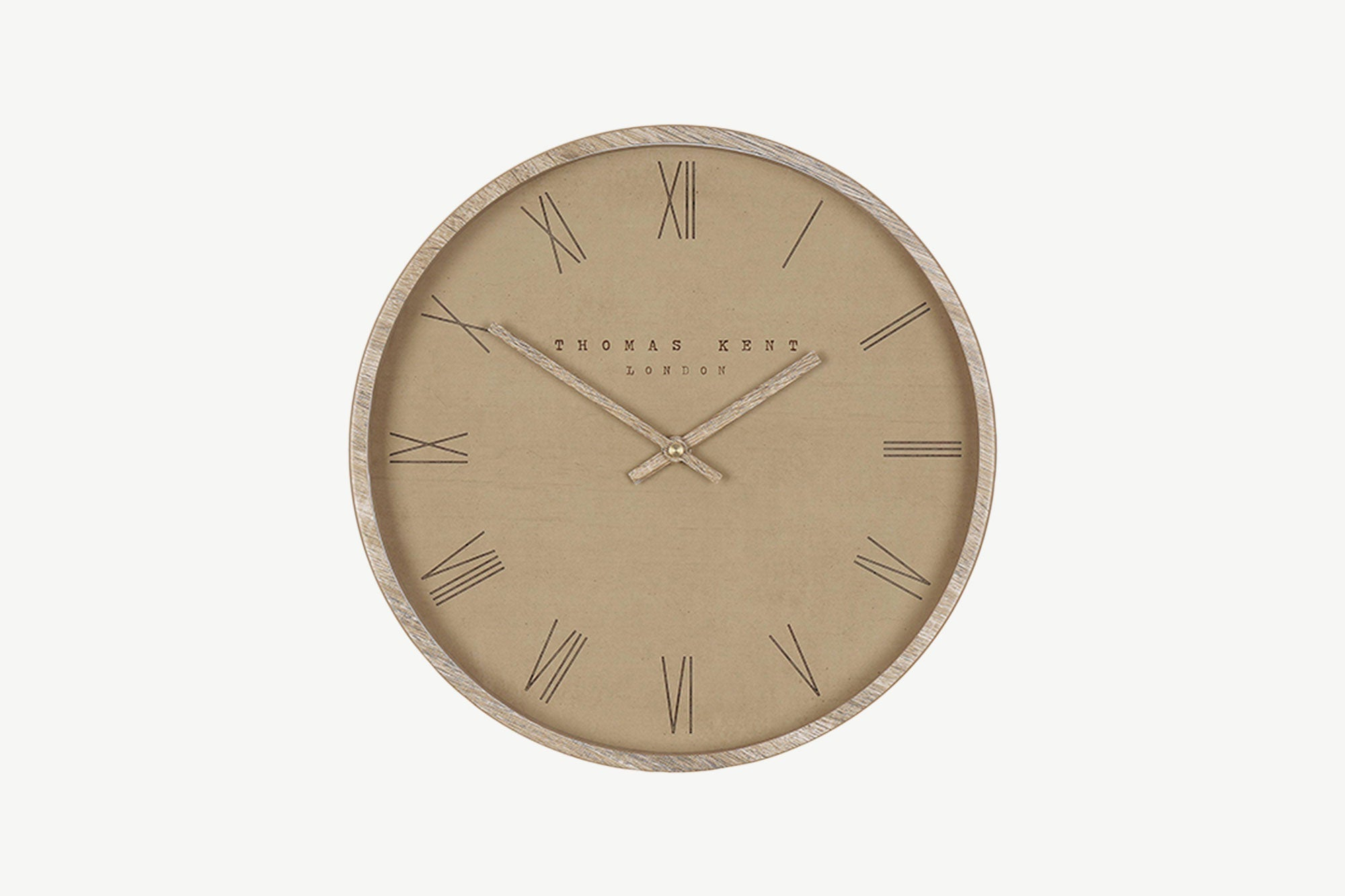 "12"" Tan Nordic Wall Clock"
