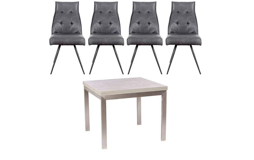 Petra Flip Top Dining Table + 4 Chairs