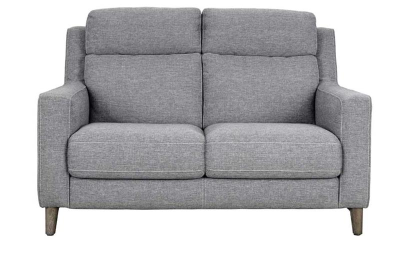 front image Placido light grey 2 seater sofa with white background