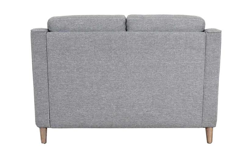 back image Placido light grey 2 seater sofa with white background