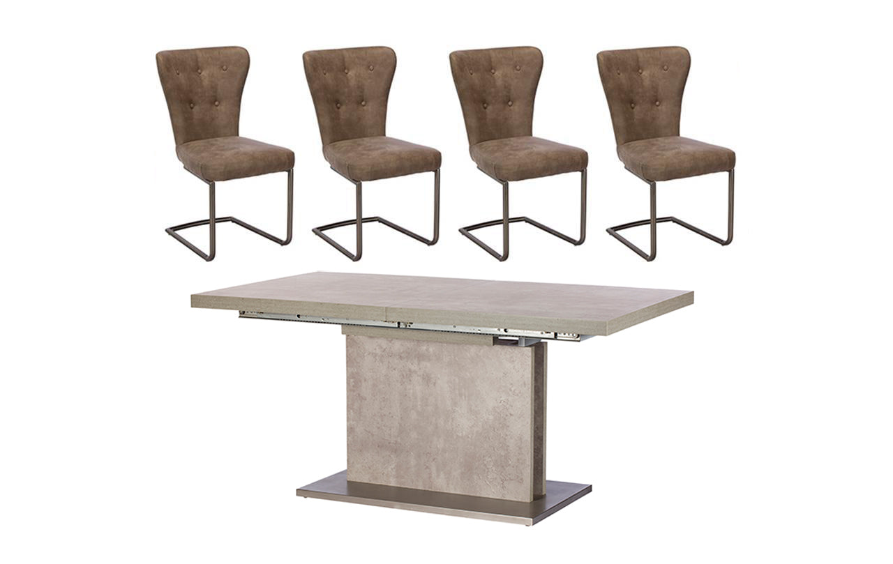 Petra Extending Dining Table + 4 Chairs