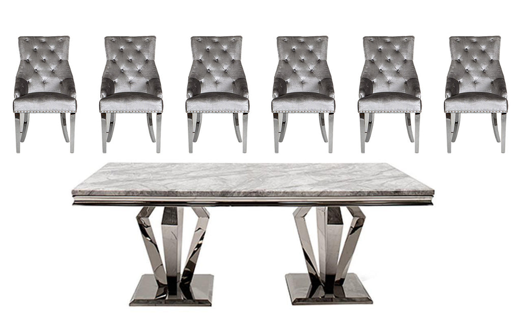 Ronda 200cm Dining Table + 6 Belvedere Chairs