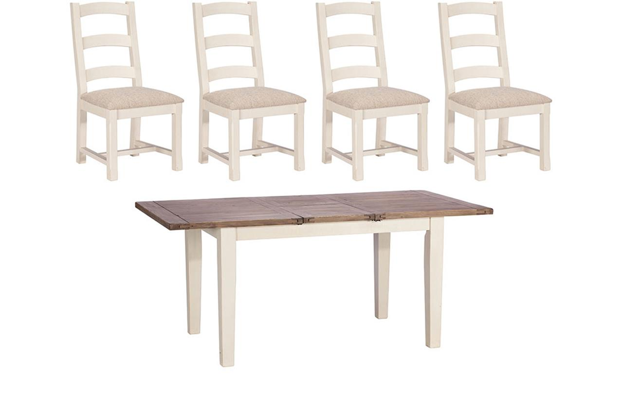 Santiago 140cm Dining Table + 4 Chairs