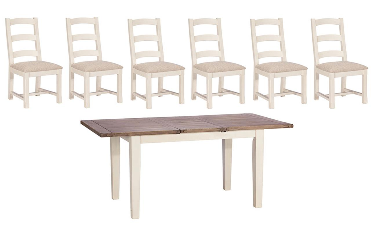 Santiago 140cm Dining Table + 6 Chairs