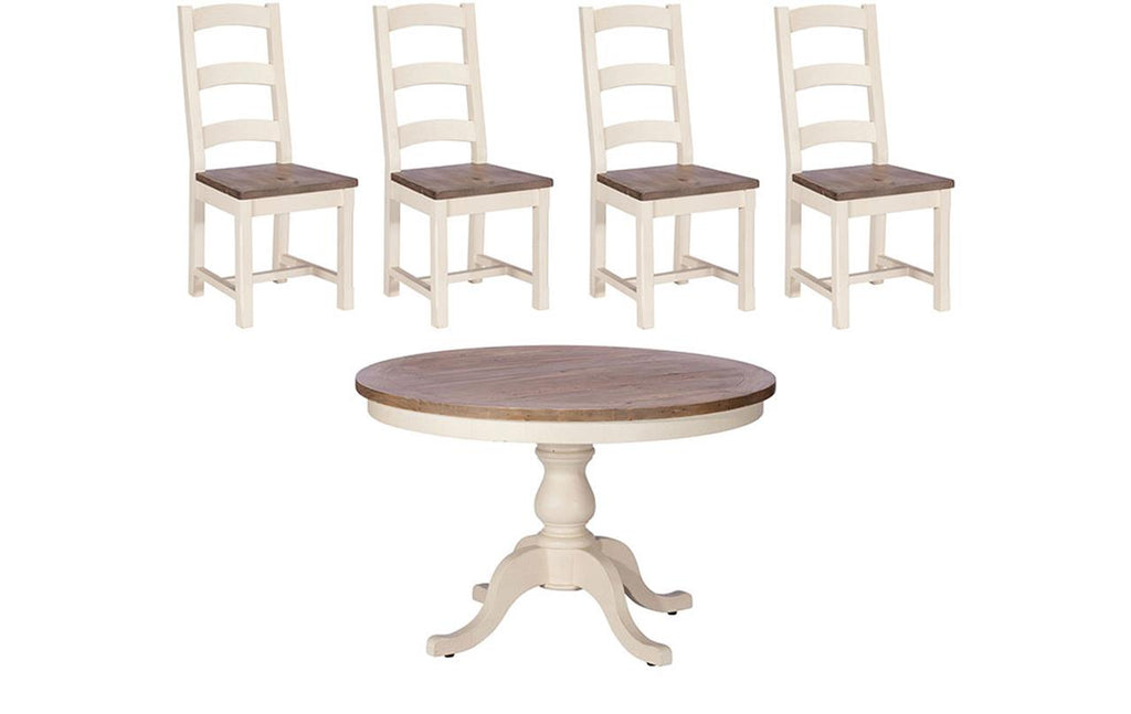 Santiago Circular Dining Table + 4 Chairs
