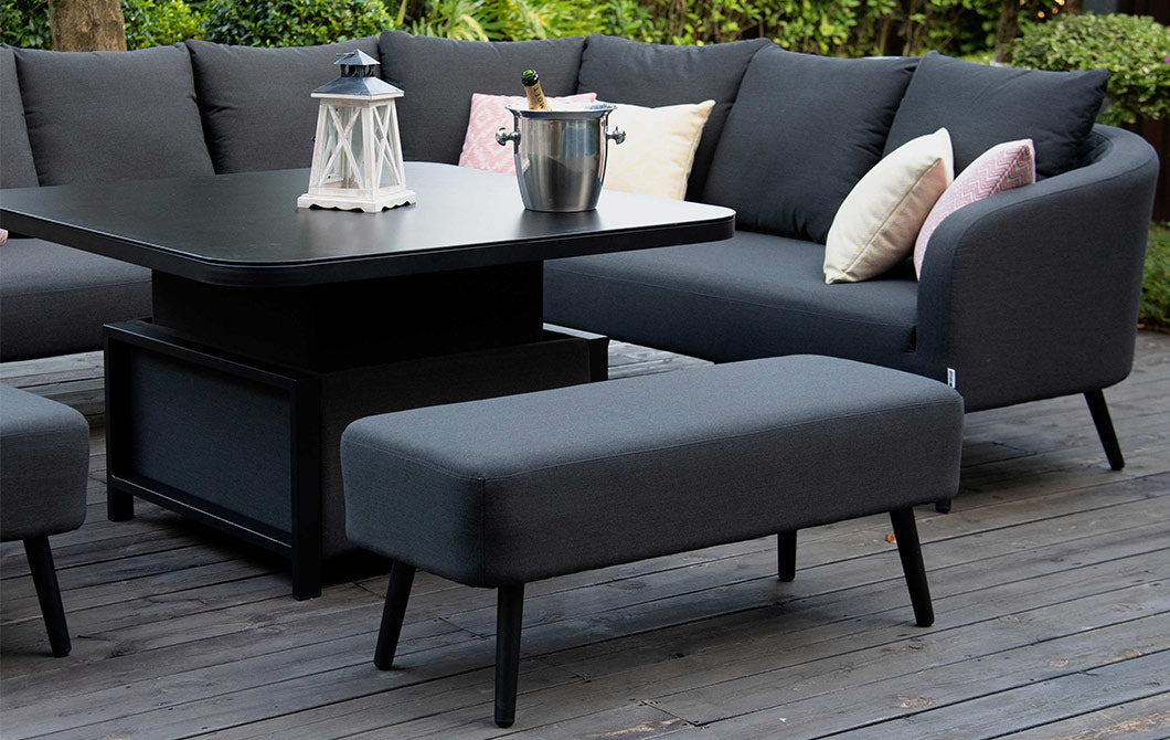 Serenity Charcoal Square Corner Dining Set
