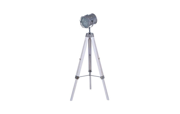 White Wash Tripod Floor Lamp