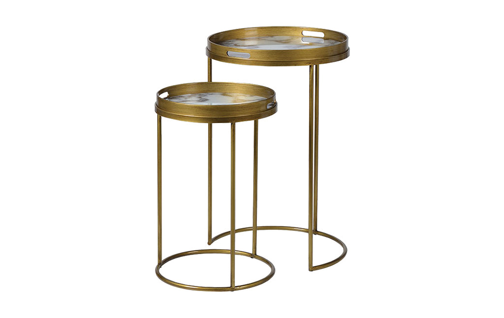 Side Tables with Marble Effect