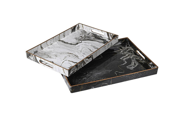 Marble Effect Trays Set